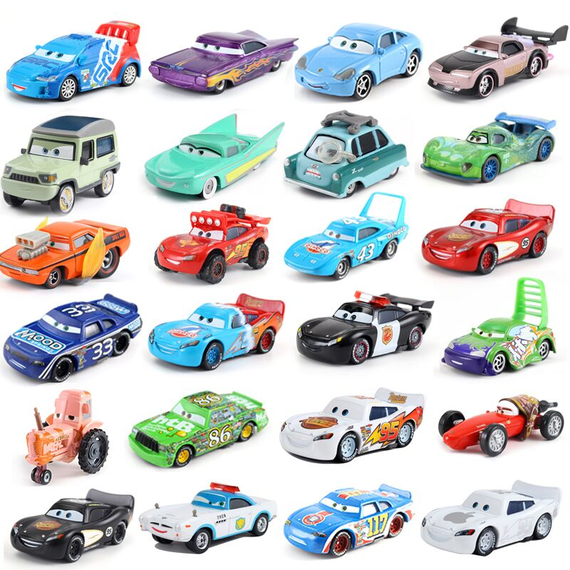 Disney Pixar Cars 3 hudson hornet Jackson Storm Mater 1:55 Diecast Metal Alloy Model Car Toy Christm