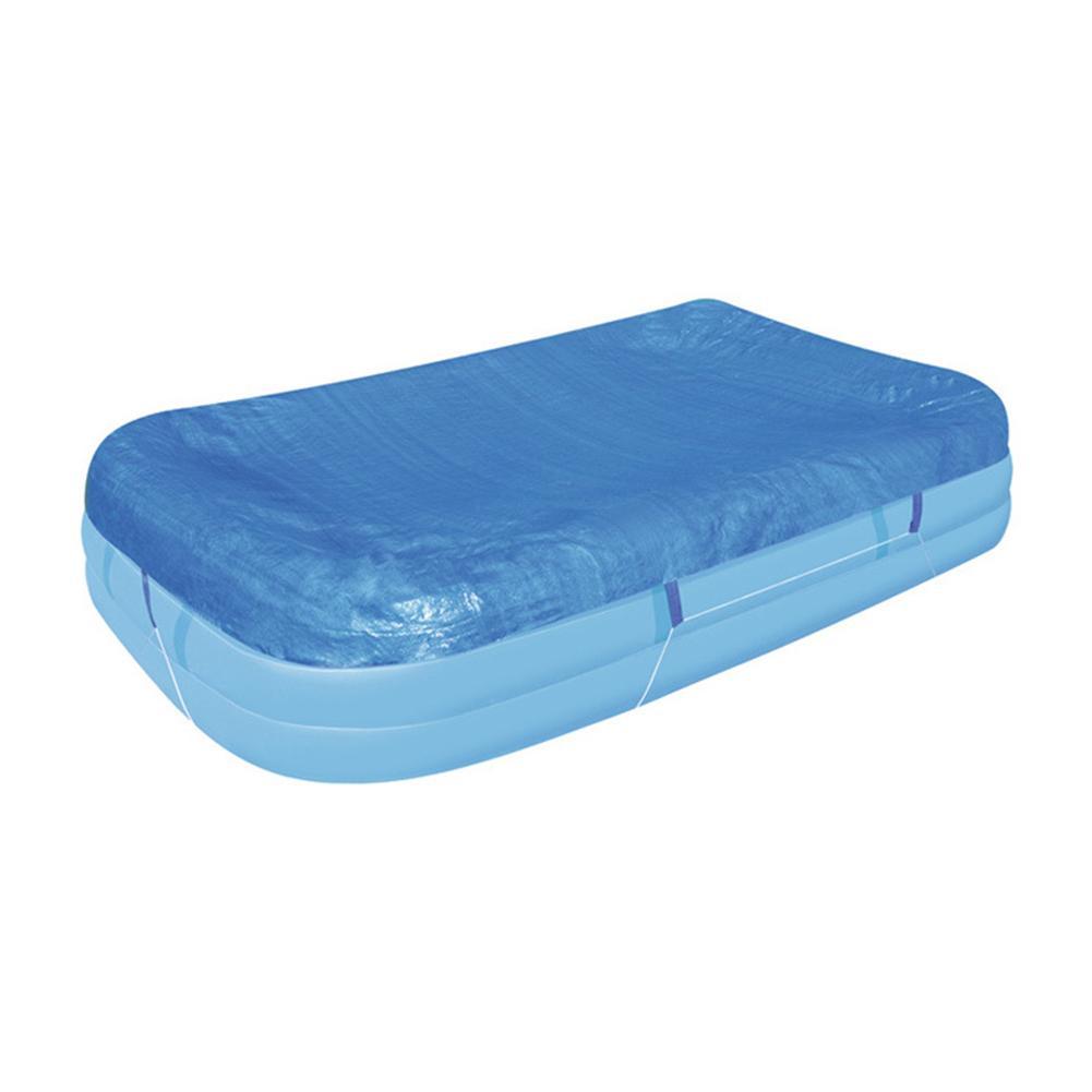 Cubierta azul de la piscina de natación de la piscina a prueba de polvo impermeable grueso Poncho cubierta de tela de la piscina inflable