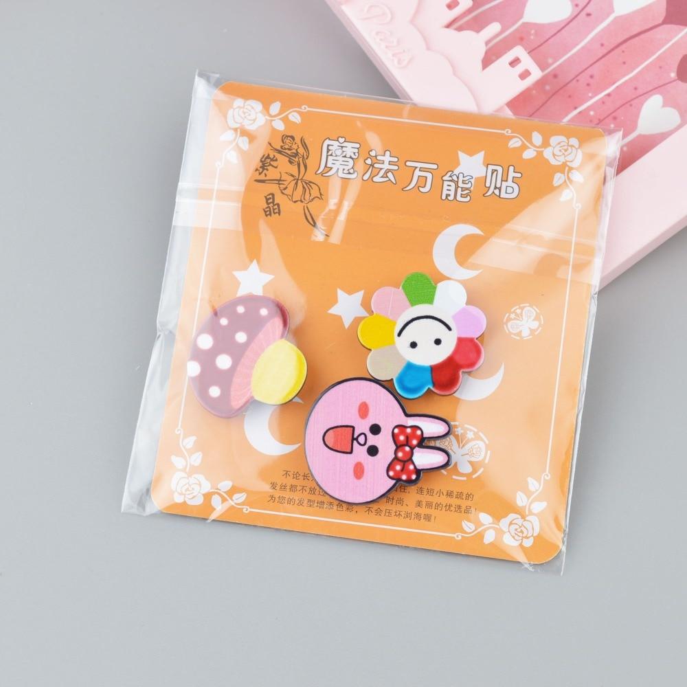 Kids Bangs Magic Paste Posts Hair Sticker Clip Magic Tape Fringe Hair Bang Patch Stick For Children Flower Head bands Headbands