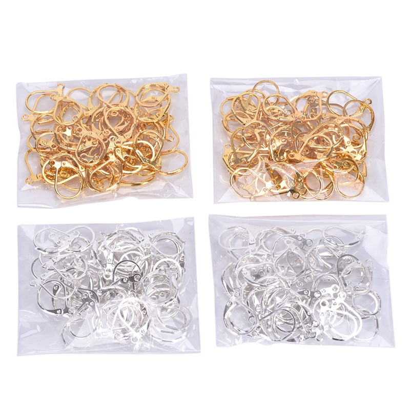 50/100 Uds DIY joyería pendientes francés langosta cierres ganchos accesorios joyería componentes hechos a mano