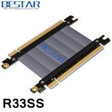Gen3.0 pcie 16x à 16x mâle à mâle Extender cordon, pci-e x16 à x16 riser adaptateur saut graphique rallonge câble 128 Gbps