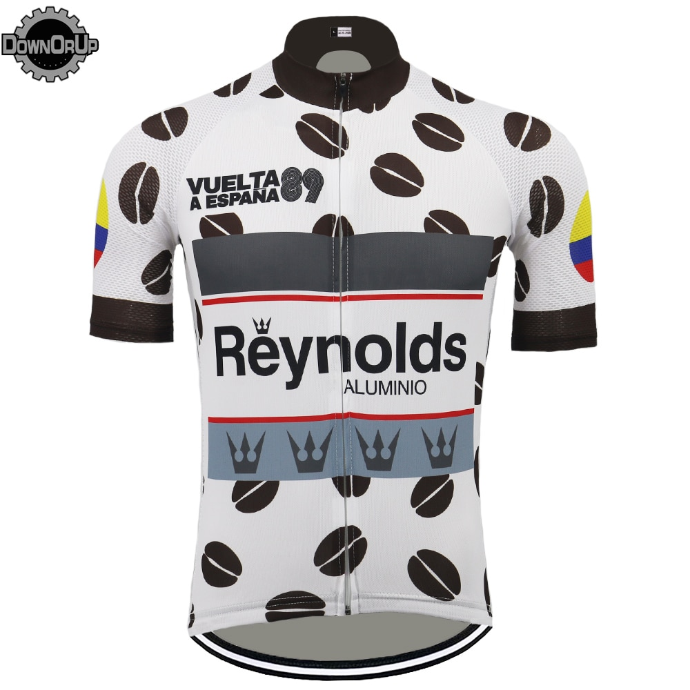 Retro pro team hombres ciclismo Jersey de manga corta MTB clásico ropa de carreras bicicleta de vestir maillot ciclismo ropa de bicicleta de carretera tops