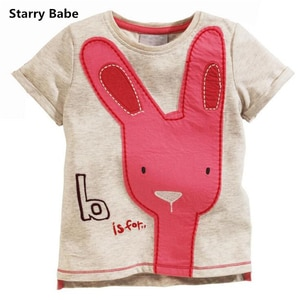 2-7T Cute Cartoon Design Cotton Boys T-shirts Children Short Sleeve t shirts Tops For Baby Toddlers Clothes Summer Style