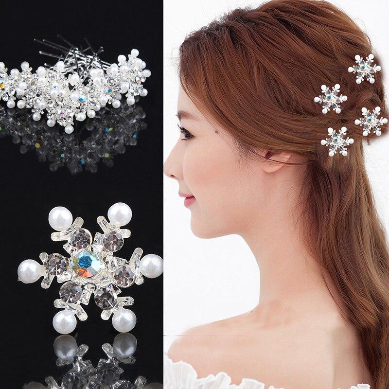 Horquillas para el pelo de boda de lujo de cristal nupcial flor Rhinestone peine de pinza de pelo diadema de alfiler para la novia Horquillas para el pelo de las mujeres