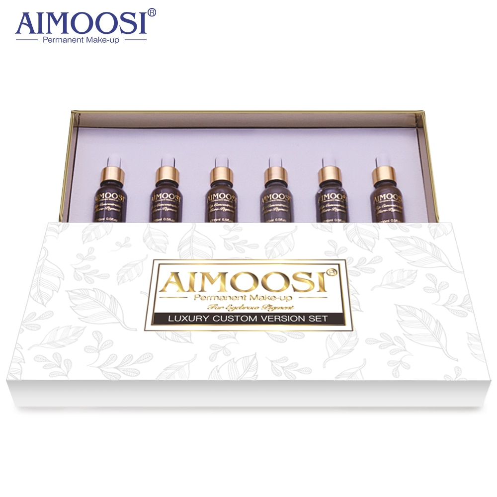 AIMOOSI Top Concentrated  Eyebrow Micro-pigment for Permanent makeup tattoo Eyebrow Microblading pigment Combination tattoo ink aimoosi top concentrated eyebrow micro pigment for permanent makeup tattoo eyebrow microblading pigment combination tattoo ink