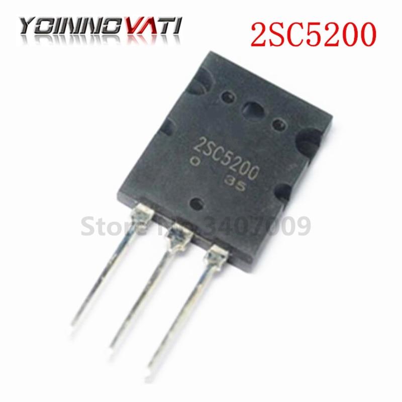 50PCS/lot 2SC5200 SC5200 TO-3PL 5200 Bipolar transistor bipolar junction type (BJT) NPN 230V 15A 150W