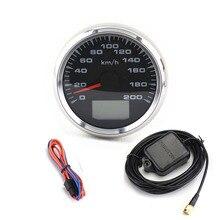 Jauges de compteur de vitesse GPS   Universels, 7 couleurs, GPS, Tuning 85mm Auto LCD odomètres de vitesse 9-32V vitesse mileomètres jauge de voyage, Cog rétro-éclairé