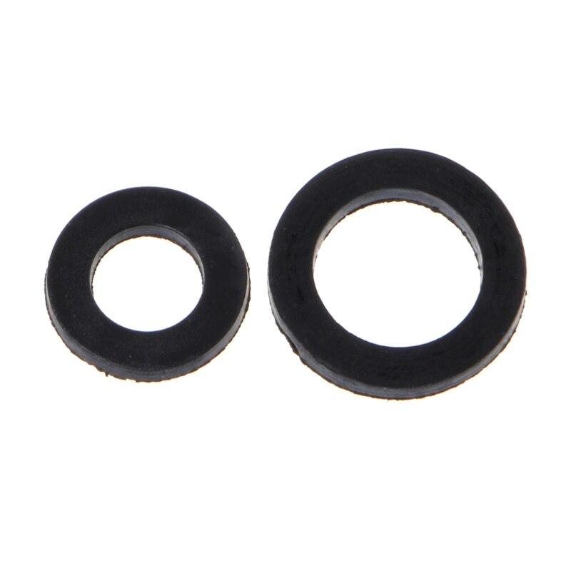 Junta de anillo de manguera en forma de O con sello de goma plano de 100 Uds lote de Arandela de goma para arandela de grifo