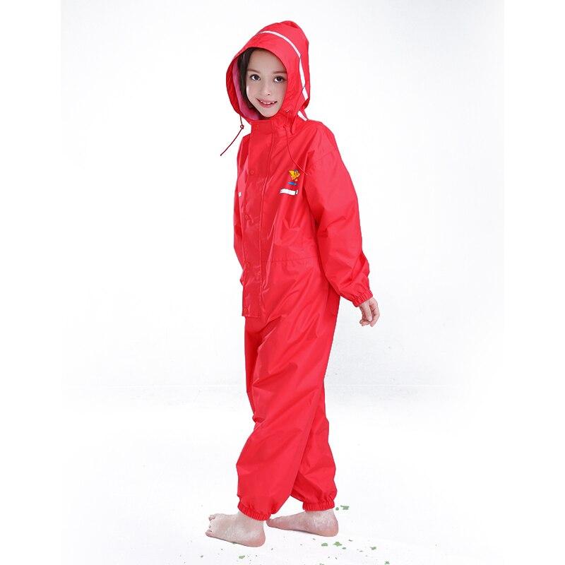 1-6 Years Old Fashion Unisex Waterproof Kids Boys Girls Jumpsuit Raincoat Hooded Cartoon Kids One-Piece Rain Coat 3DYYB02