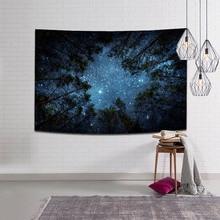 150*200 cm 숲 별이 빛나는 하늘 매달려 벽 태피스 트리 폴리 에스터 신선한 침대보 야외 바닥 커버 식탁보 트리 스타 목욕 타월
