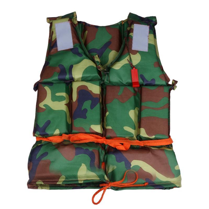 1 Uds. Chaleco salvavidas de poliéster para adultos, chaleco salvavidas Universal para deportes acuáticos + silbato para pesca, surf, herramienta de supervivencia para acampar al aire libre