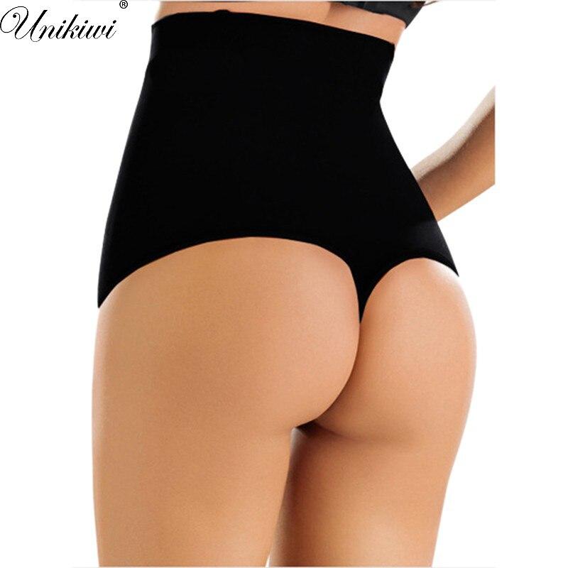 Ropa interior para mujer, bragas Push Up, bragas de tiro alto, Tanga, Tanga, Control de la panza, bragas adelgazantes XXXL