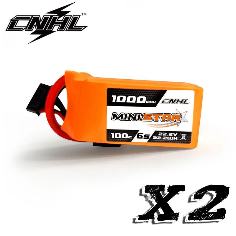 2 uds CNHL MiniStar 1000MAH 22,2 V 6S 100C batería Lipo