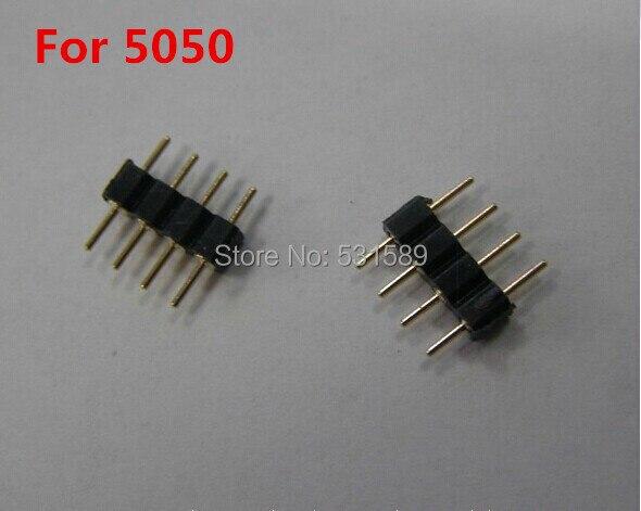Wholesale500pcs 4-pins ذكر محول موصل لل rgb led 5050 3528 إدراج سهلة