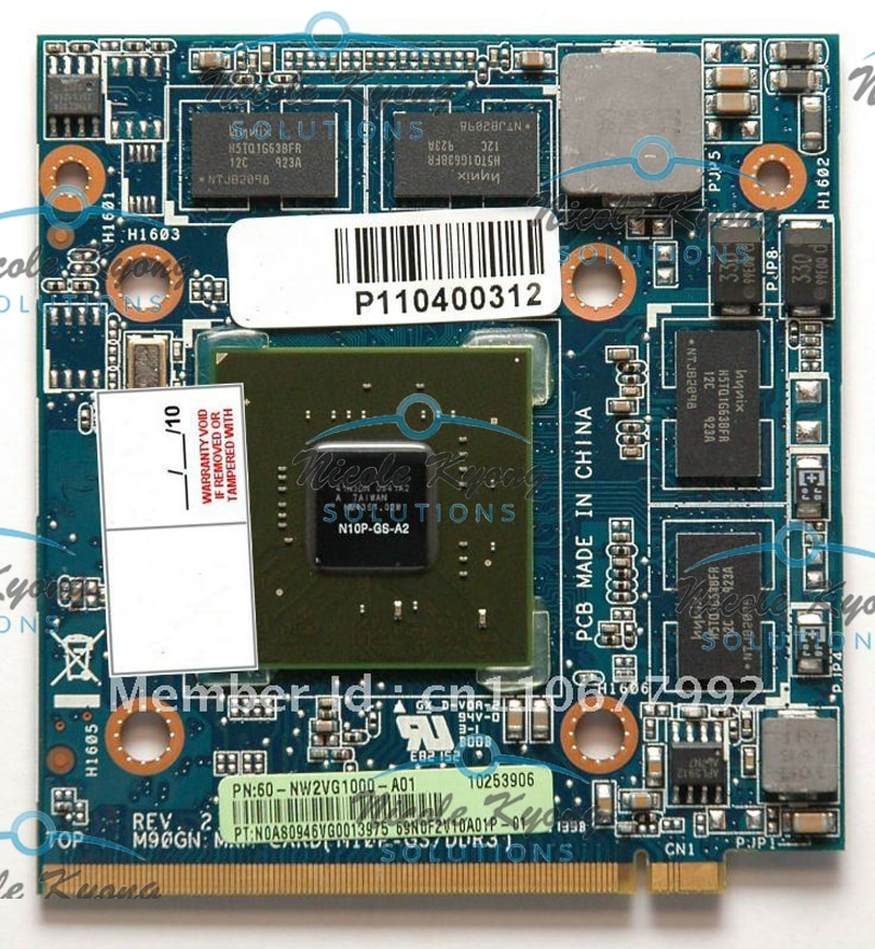 100% العمل M90GN GT 240M N10P-GS-A2 1GB DDR3 MXM II بطاقة VGA الفيديو بطاقة ل أسباير 5920G 8930 8930g 6930 6930g