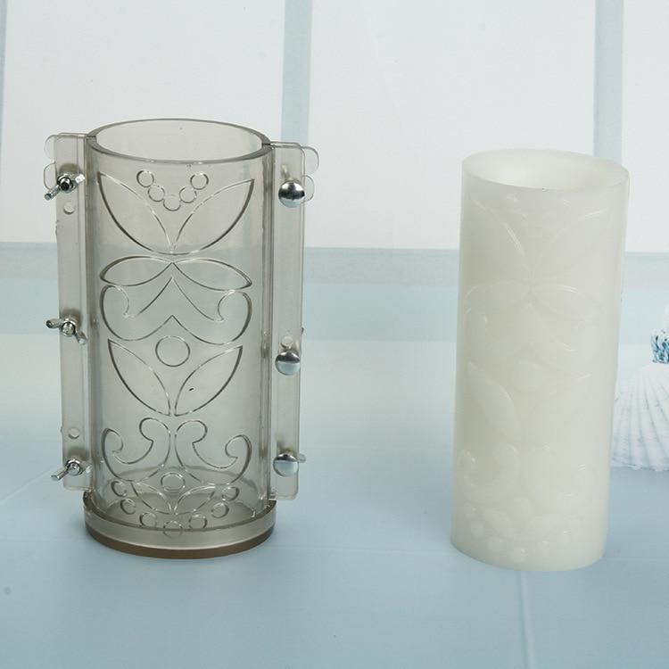 Diy suministros para hacer velas molde para recoger flores de elipse transparentes resistentes al desgaste y hojas herramienta bougeoir kaarsen