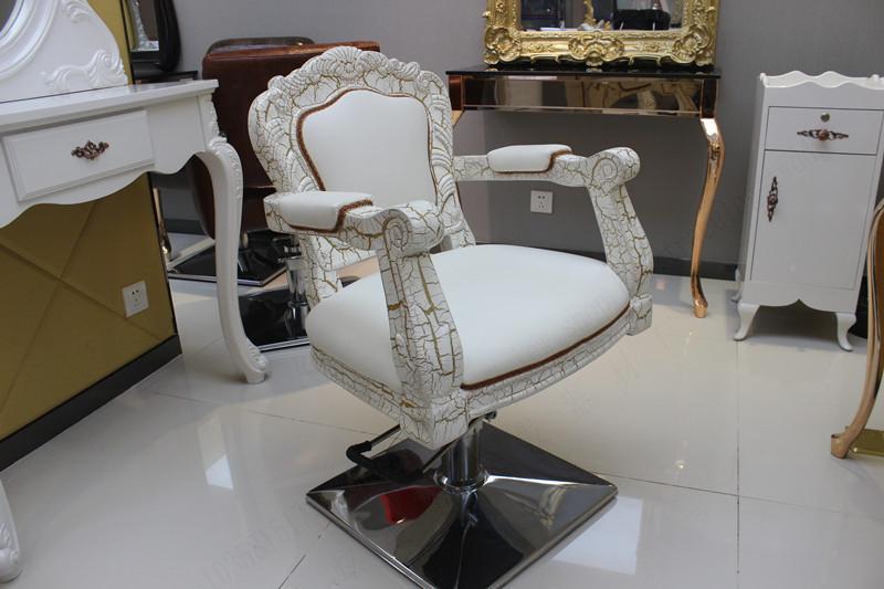 Cadeira europeia do cabeleireiro. Salão de cabeleireiro especial cadeira de corte de cabelo. Cadeira de barbeiro. Cadeira do salão de beleza