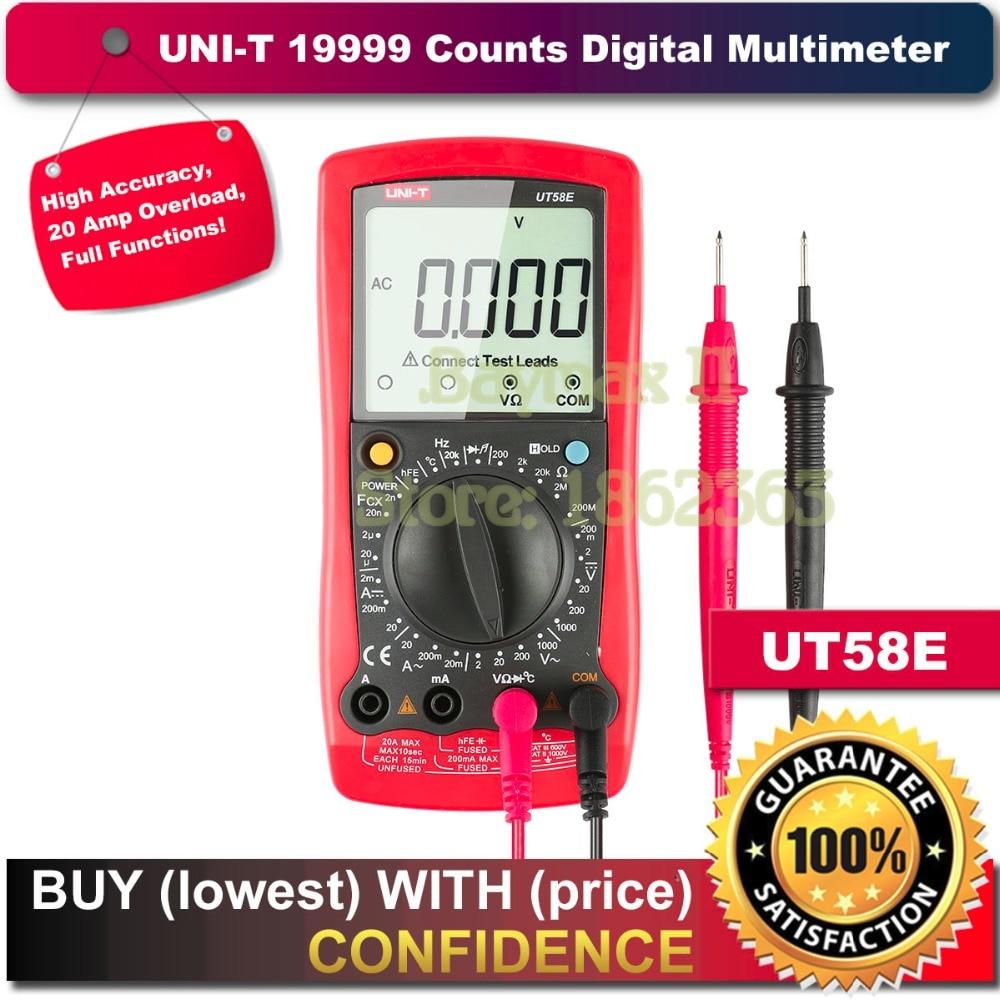 UNI-T UT58E 19999 Counts LCD Digital Multimeter AC/DC Voltmeter Amp Ohm Capacitance Tester LCR meter
