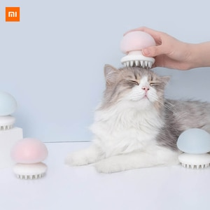 new Xiaomi Mijia Youpin cat massage comb Jellyfish model Food silicone grade Negative ion anti-static Wet and dry use