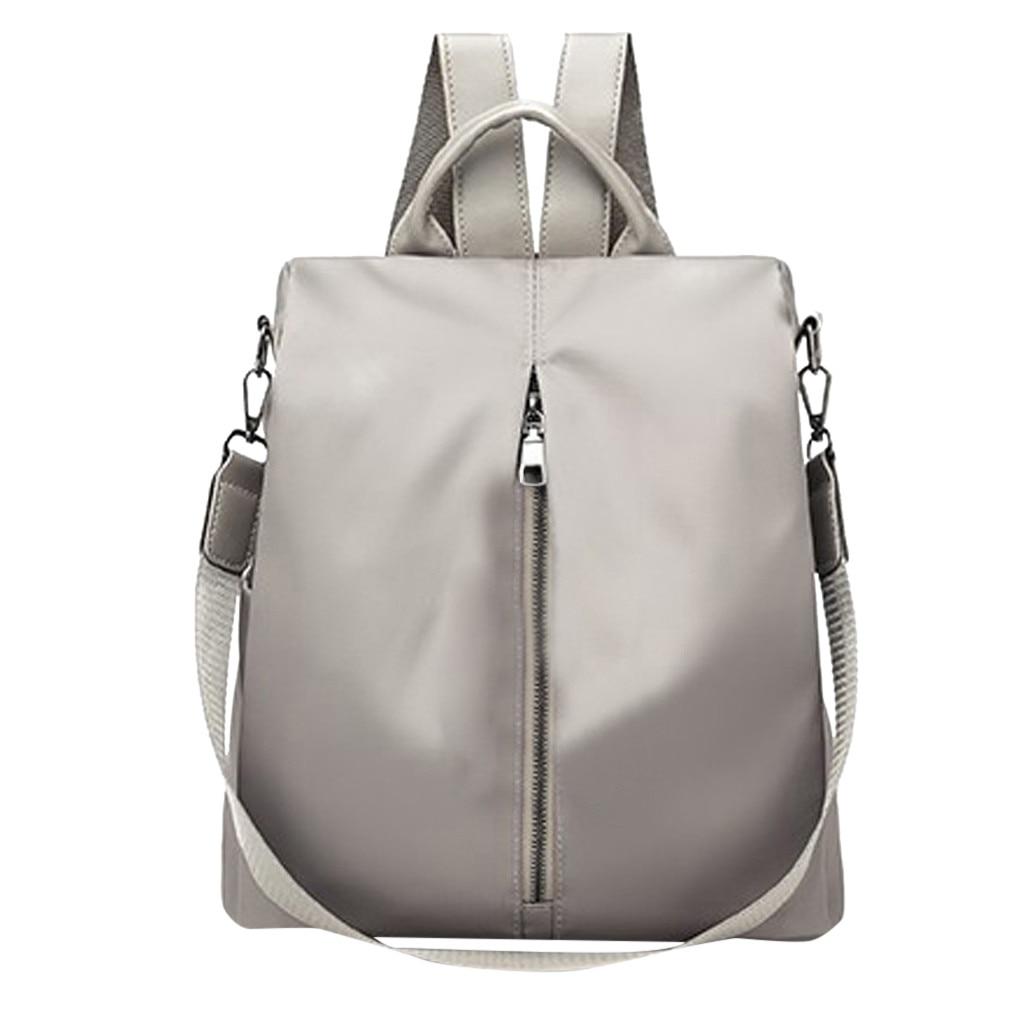 Mochila de moda para mujer, bolso de Nylon resistente al agua, mochila de hombro antirrobo para mujer, mochila de viaje para mujer, mochila para adolescentes # OX