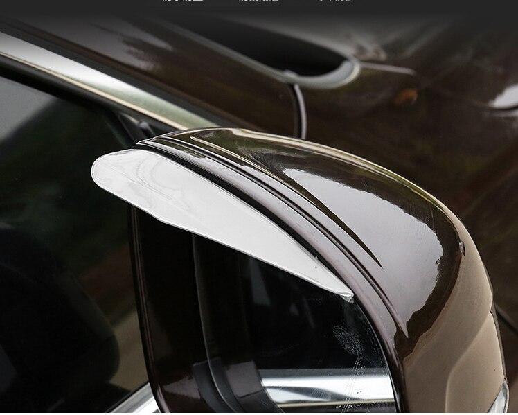2 pçs universal espelho retrovisor lateral placa de chuva sol viseira sombra escudo protetor flexível para o carro caminhão suv estilo do carro mais novo