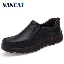 Vancat tamanho grande 38-48 dos homens vestido de couro italiano sapatos de marca de luxo mocassins masculinos de couro genuíno mocassins formais