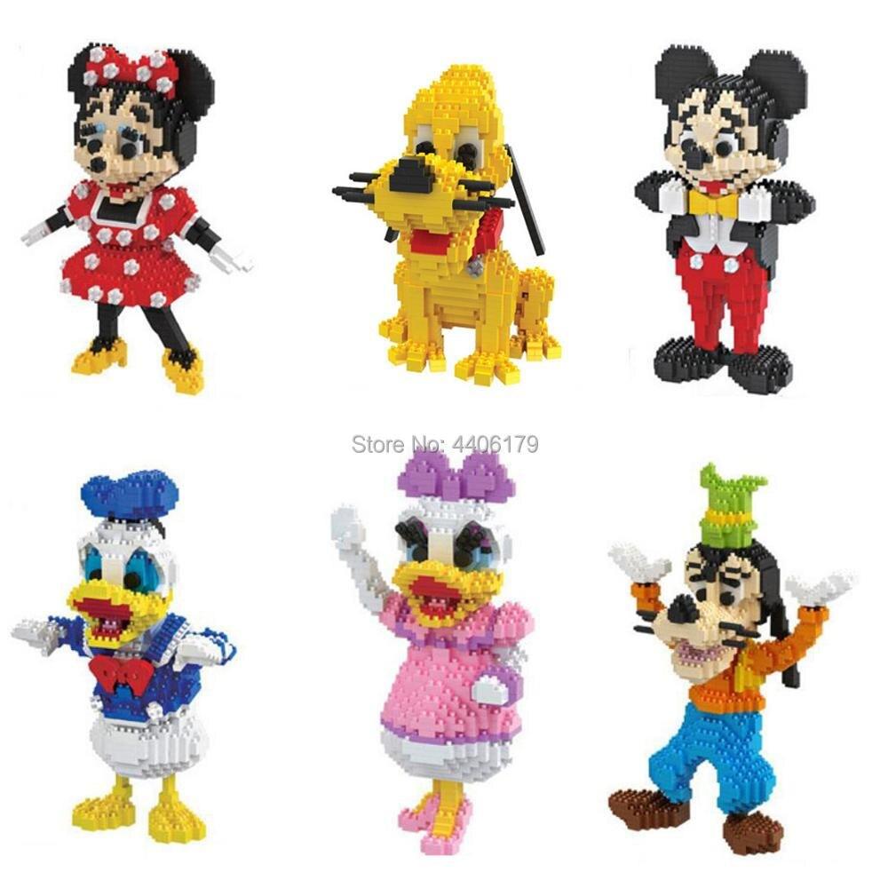 Хит, lepining creators, парк развлечений, мышь, мультяшная собака, утка, фигурки, микро бриллиантовые блоки, Микки, Минни, Дональд гуфис, Дейзи, игрушк...