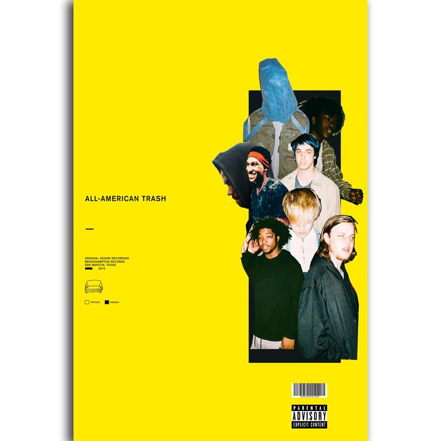 Funda de álbum de N-284 toda la basura americana Brockhampton Rap POSTER L-W decoración de lienzo 14x21 20x30 24x36