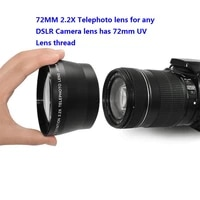 Professional HD 72mm 2 2x Telephoto Lens   Lens Bag for Canon Nikon Pentax Olympus Any DSLR with 72mm Filter Size Lens thread