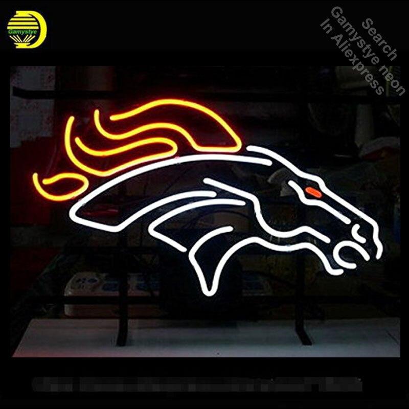 الحصان النيون تسجيل النيون لمبات تسجيل الخيول أضواء النيون أنبوب زجاجي حقيقي يدويا مبدع تسجيل مخزن عرض 17X14 بوصة Lampara الفن
