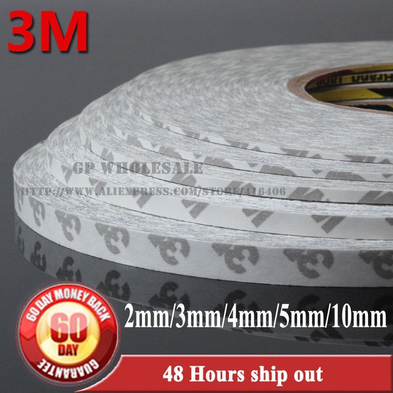 5 unidades 2mm/3mm/4mm/5mm/10mm * 50M Original 3M 9080 cinta adhesiva de doble cara para teléfono Android iphone pantalla táctil bisel de luz LED