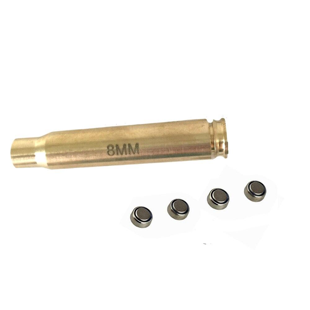 Tactical Bore Mira A Laser 8mm Cartucho Red Dot Laser Sight BoreSighter Laser Vermelho para Pistola Rifle De Caça de Bronze