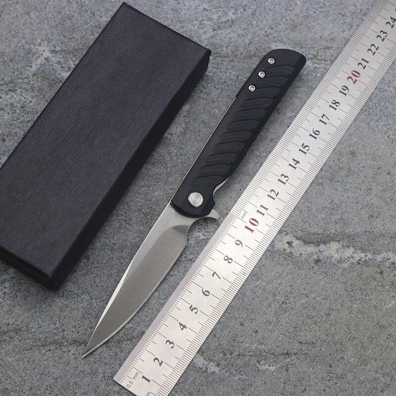OEM R3801 Flip plegable 9cr18mov Blade mango Nylon exterior Camping multifunción caza EDC herramientas