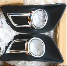 A Pair Chrome Front Bumper Fog Lamp Light Cover for Citroen C4 2008-2011 C-quatre Front Fog Lamp Frame