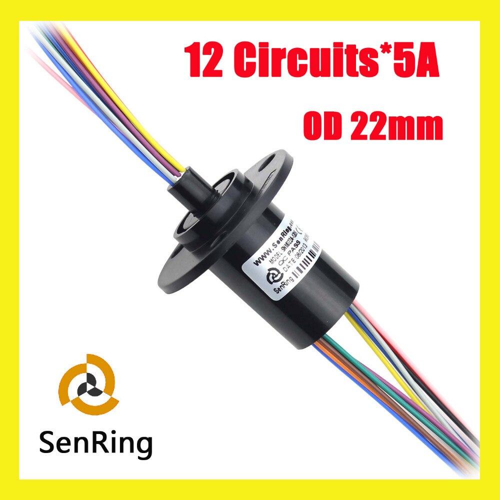 Anillo de deslizamiento de cápsula 12 circuitos/cables de contacto 5A utilizado para turbina aerogeneradora