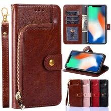 Étui pour téléphone portable à glissière pour Samsung Galaxy S5 S8 S9 S10 S20 Plus S10e S10 5G étui en cuir housse en cuir pour S6 S7 S20 Ultra portefeuille
