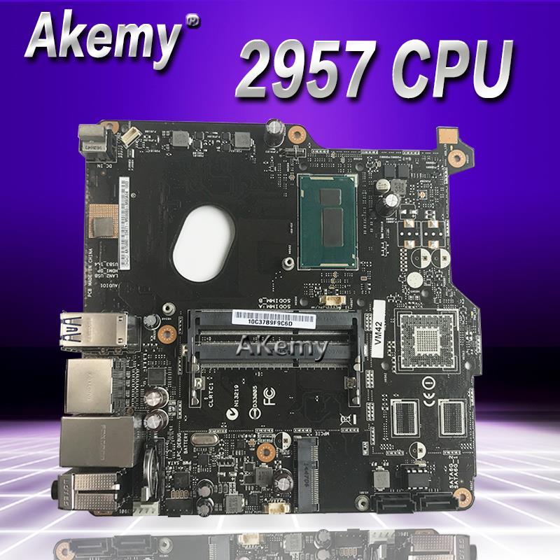 Akemy VM42 placa base todo en uno para For Asus VM42 con 2957U cpu ordenador portátil placa base
