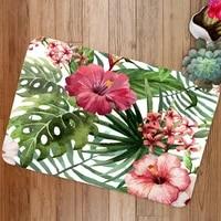 tropical plant printing flange mat bathroom non slip mat bathroom mat suite bathroom carpet suite bathroom rug set bath mat