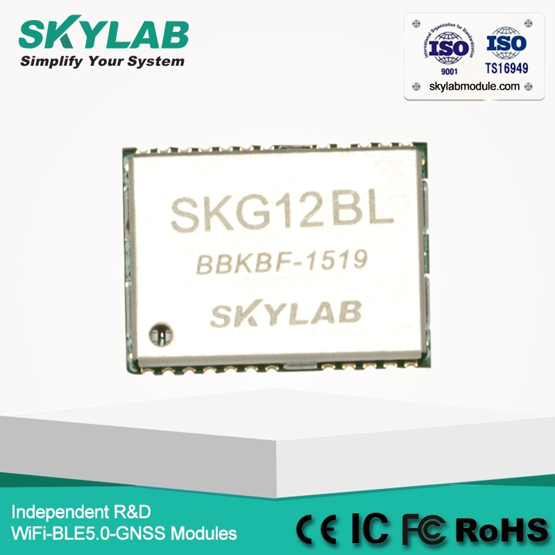 SKYLAB SKG12BL Ultra Alta Sensibilidade-165dBm Pequeno Módulo GPS para Rastreamento de Veículos/Dispositivo de Navegação Portátil