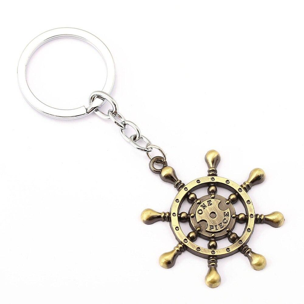 Una pieza llavero timón Soporte para Llavero regalo Chaveiro colgante de llavero de coche joyas de Anime recuerdo YS11495