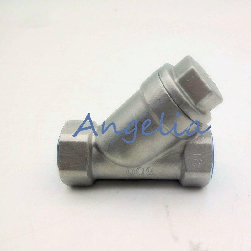 """3/8 """"DN10 BSP 304 filtro de malla de acero inoxidable bomba de refuerzo en línea Y filtro de hilo femenino"""