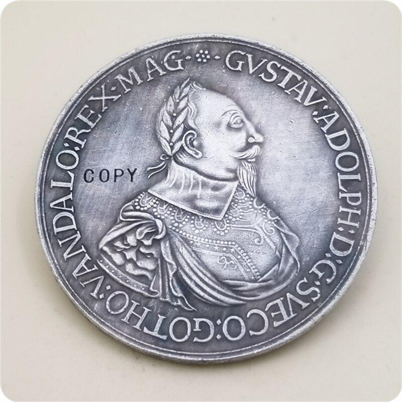 Медаль Густав Адольф Швеция копия монеты Бесплатная доставка