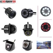 Koorinwoo sans fil universel HD CCD voiture vue arrière caméra IP68 Vision nocturne 8 LED lumières infrarouges sauvegarde aide au stationnement inverse