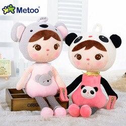 50 см Новинка Metoo Мультяшные чучела животные Анжела плюшевые игрушки спящие куклы для детей игрушка 22 см подарки на день рождения Дети