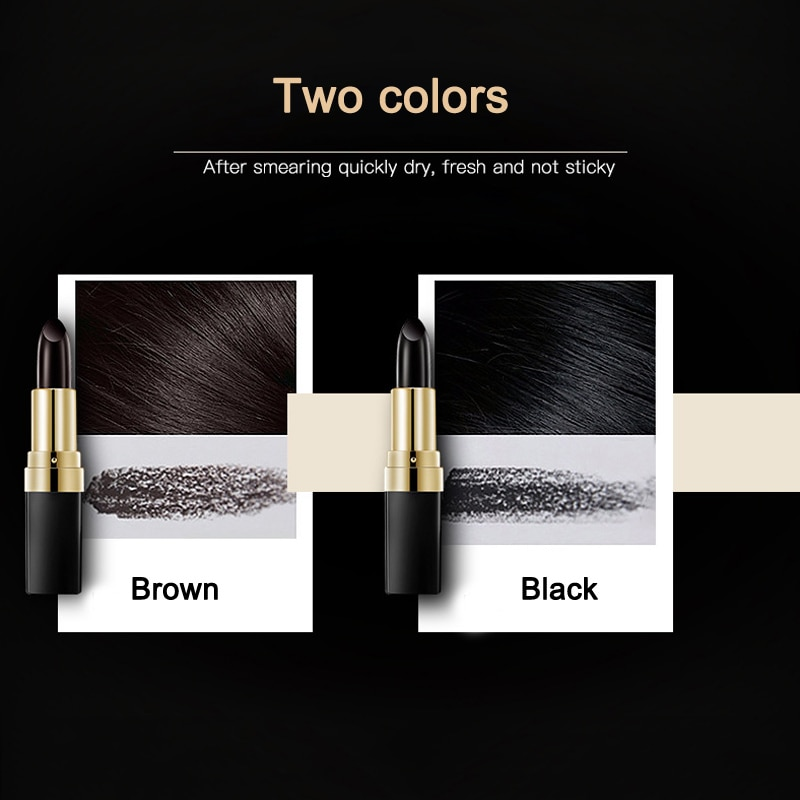 1 Pcs Disposable Hair Dye Coloring Stick Long Lasting Instant Temporary Cover Up White @ME88