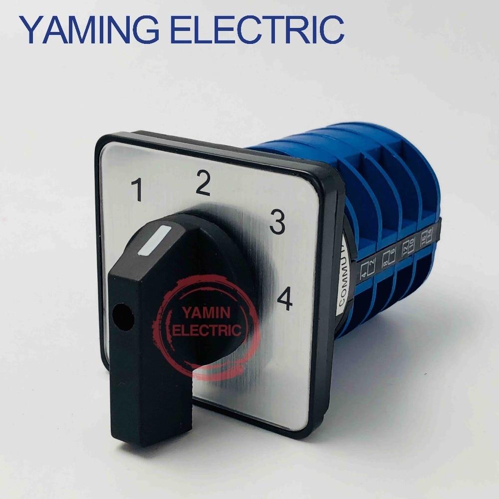 Interruptor rotativo LW26 YMW26-32/4, posición Multipaso, 690V, 32A, 4 polos, 16, selector de tornillo, interruptor principal de leva de cambio universal