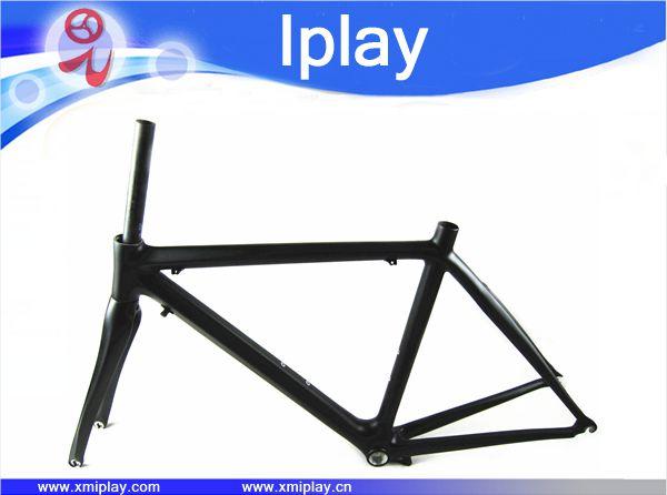 Precio barato cuadro de bicicleta de carretera de carbono chino carretera marco BSA UD matt cuadro de bicicleta de carretera de carbono de la horquilla