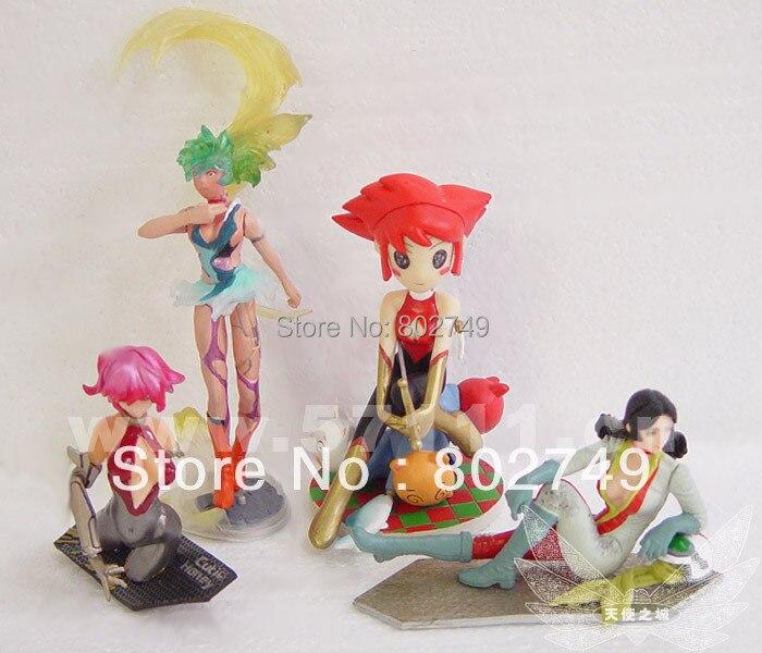 4 pçs/lote Miyazaki Hayao animados KiKis Delivery Service Porco Rosso Laputa Castle In The Sky PVC figuras de ação brinquedos
