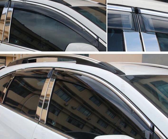 Accesorios Lapetus, visores de ventana, toldos, lluvia, viento, Deflector, Visor, protector de ventilación, Kit de protección para HONDA CRV CR-V 2012 - 2016