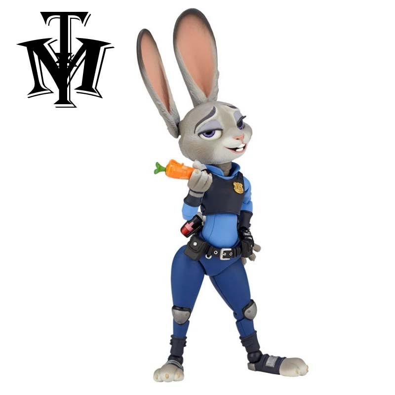Zootopia conejo Judy hopps figuras modelo móvil de dibujos animados PVC zootrópolis figura de acción juguetes de modelos coleccionables para niños regalos